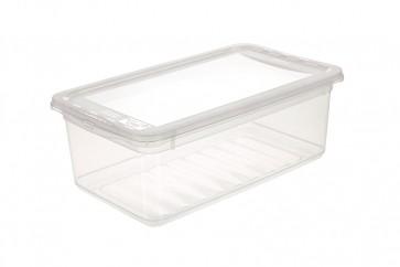 Basixx műanyag tároló doboz 5,6 l, átlátszó, 33x19,5x12 cm