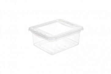 Basixx műanyag tároló doboz 1,7 l, átlátszó, 19,5x16,5x8,5 cm