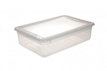 Basixx műanyag tároló doboz 11 l, átlátszó, 39x26,5x14 cm