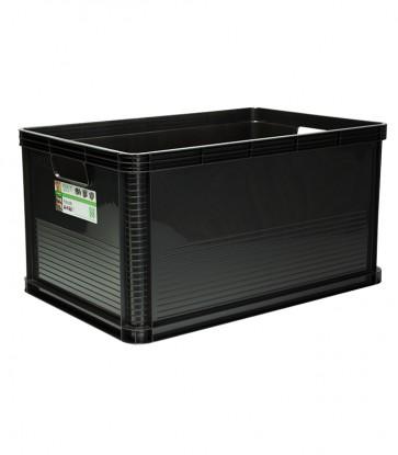 Robusto műanyag tároló doboz, 64 L, grafit, 60x40x32 cm