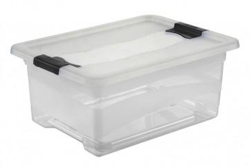 Crystal műanyag doboz 12 l, átlátszó, 39,5x29,5x17,5 cm