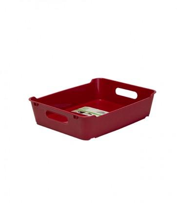 Loft műanyag tároló doboz A5, sötétpiros , 28x22x6,5 cm - UTOLSÓ 11 DB