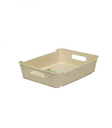Loft műanyag tároló doboz A5, krémszínű, 28x22x6,5 cm UTOLSÓ 15 DB