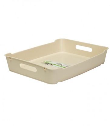 Loft műanyag tároló doboz A4, krémszínű, 37x28,5x6,5 cm UTOLSÓ 4 DB