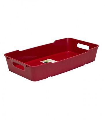 Loft műanyag tároló doboz 5,5 L, sötétpiros, 40x22x7cm UTOLSÓ 1 DB