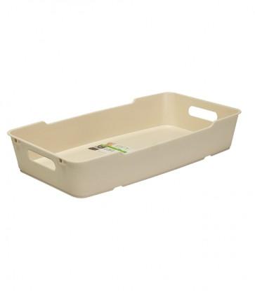 Loft műanyag tároló doboz 5,5 L, krémszínű, 40x22x7cm - UTOLSÓ 4 DB