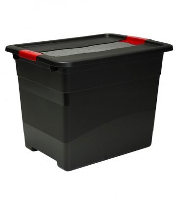 Műanyag doboz  Crystal – SOLIDO 24 l, grafit, 39,5x29,5x30 cm - UTOLSÓ 1 DB
