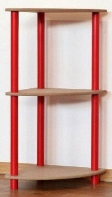 Dedal kombinált sarok polcrendszer, 3 polc, 74x33x33 cm