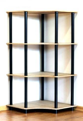 Dedal kombinált sarok polcrendszer, 4 polc, 108x55x55 cm