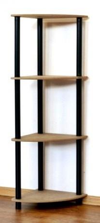 Dedal kombinált sarok polcrendszer, 4 polc, 108x33x33 cm