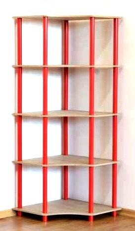 Dedal kombinált sarok polcrendszer, 5 polc, 144x55x55 cm