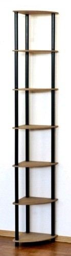 Dedal kombinált sarok polcrendszer, 7 polc, 210x33x33 cm