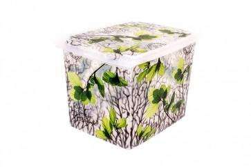 "Fashion műanyag tároló doboz,""SPRING"", 39x29x27 cm - UTOLSÓ 8 DB"