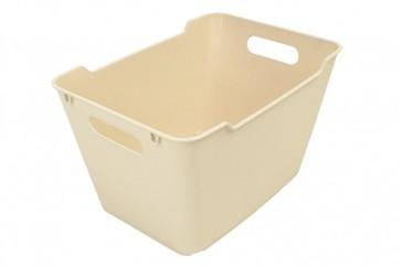 Loft műanyag tároló doboz 12 L, krémszínű, 35,5x23,5x20 cm UTOLSÓ 9 DB