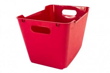 Loft műanyag tároló doboz 20 L, sötétpiros, 40x28x25 cm
