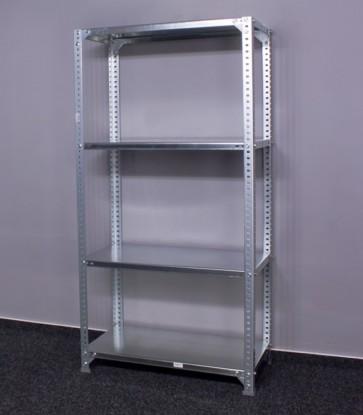 Metal fém polcrendszer, 4 polc, 150x100x30 cm, 100 kg