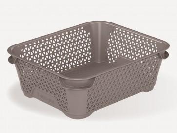Mirko műanyag kosár, A6, szürke, 20x16x7 cm