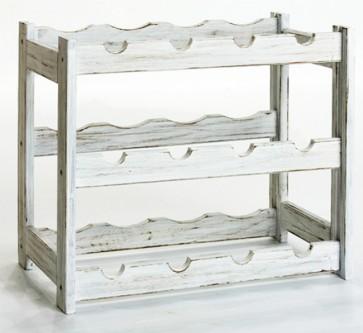 Riper Bortartó 12 üvegre, Provance – fehér, 38x44x25 cm