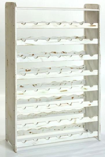 Rack Bortartó, 56 üvegre, Provance – fehér, 118x72x27 cm