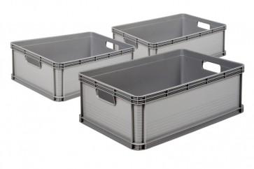Kedvezményes árú Robusto műanyag tároló dobozok, 45L, 3 db