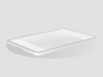 Eurobox műanyag fedél, 60x40 cm, átlátszó