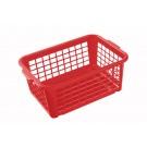 Műanyag kosár, közepes, piros, 30x20x11 cm