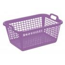 Könnyű műanyag ruhás kosár, 60 L, világos lila,  70x50x30 cm