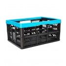 Műanyag, összecsukható rekesz, kicsi, kék, 47x34x23 cm - UTOLSÓ 1 DB
