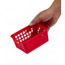 Műanyag kosár, A7 piros , 14x11x6 cm - UTOLSÓ 15 DB