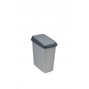 """Odpadkový koš """"Slim-Bin"""" 10 l, stříbrný"""