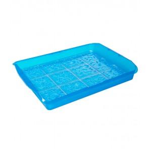 """""""PARTY"""" műanyag tároló doboz, kék, 35x45x11 cm"""