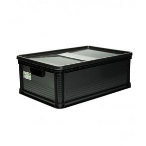 Robusto műanyag tároló doboz 45 L, grafit, 60x40x22 cm