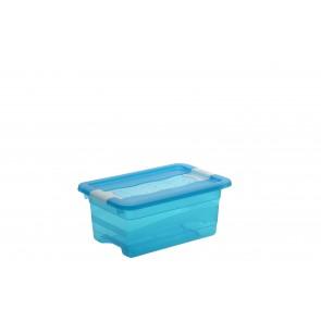 Crystal műanyag tároló doboz 4 l, világoskék, 29,5x19,5x12,5 cm