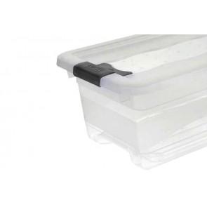 Crystal műanyag doboz 4l, átlátszó, 29,5x19,5x12,5 cm