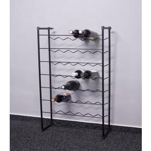 Klasik bortartó, 48 üvegre, fekete, 92x58x23 cm