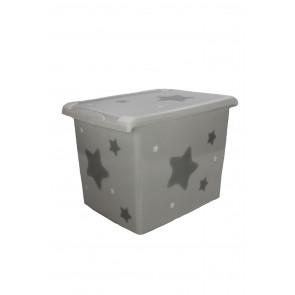 "Fashion műanyag tároló doboz , ""Star"", 39x29x27 cm"