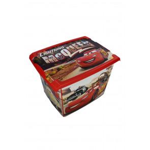 """Fashion műanyag tároló doboz , """"Cars"""", 39x29x27 cm"""
