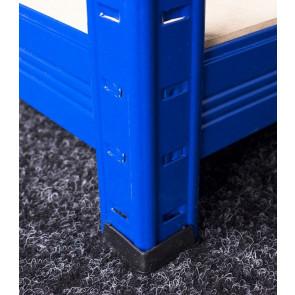 Saturn fém polcrendszer, 5 polc, 196x100x60 cm, 275 kg, kék