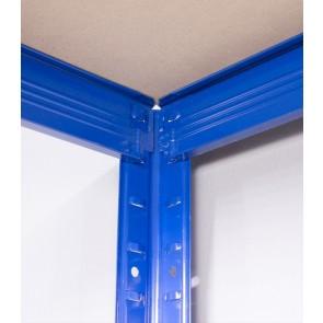Saturn fém polcrendszer, 4 polce, 180x90x45 cm, 175 kg, kék