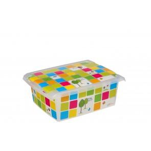 """Fashion műanyag tároló doboz, """"KIDS"""", 39x29x14 cm - UTOLSÓ 4 DB"""