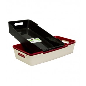 Loft műanyag tároló doboz 5,5 L, krémszínű, 40x22x7cm
