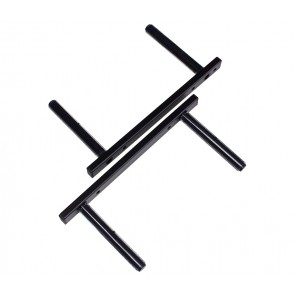 Fali síléctartó, 2 sílécre, vízszintes tartás, fekete