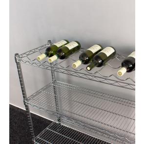 Sirius krómozott bortartó, 9 üvegre, 95x90x35 cm, Típus 3.