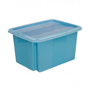 Colours műanyag tároló doboz fedéllel 15L, kék, 38x28,5x21 cm UTOSLÓ 23 DB