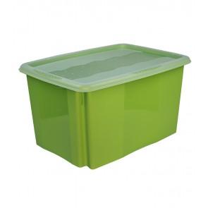 Colours műanyag tároló doboz fedéllel, 45L, zöld, 55x39,5x29,5 cm UTOLSÓ 6 DB
