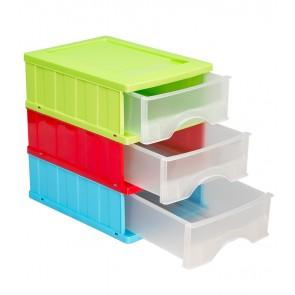 Fiókos tároló A5, többszínű, 25x18x25 cm UTOLSÓ 1 DB