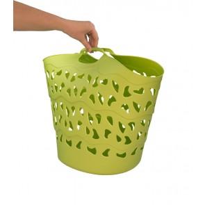 Flexibilní koš FLEX, 30 l, zelený, 42x40 cm - POSLEDNÍ KUS