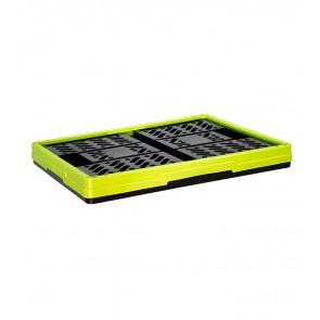 Műanyag, összecsukható rekesz, kicsi, zöld, 47x34x23 cm