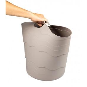 Plastový koš FLEX, 30 l, šedý
