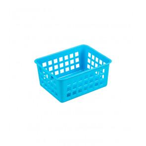 Műanyag kosár, A7 kék, 14x11x6 cm - UTOLSÓ 14 DB